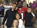 "At the Xavier game, with Billy Hamilton and Adam ""Pacman"" Jones"
