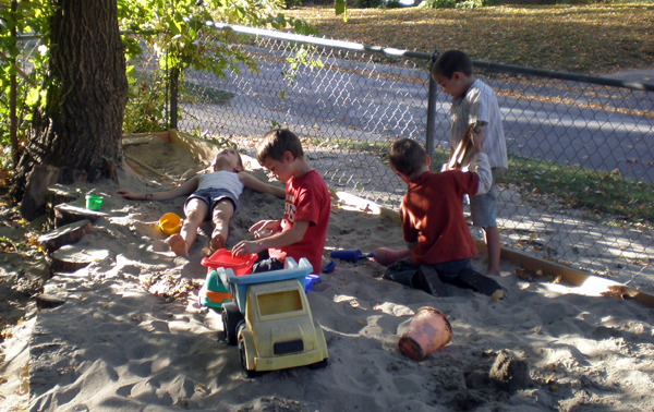 Playing in the Sand Box