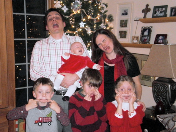 Christmas Eve Family Photo - Take 2