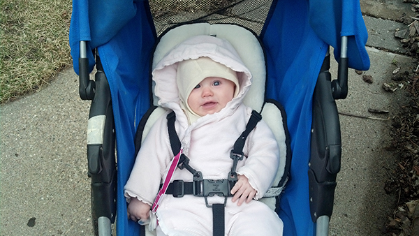 Lucia's First Stroller Ride