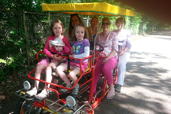 The Girls on a Big Bike