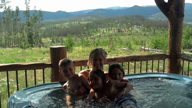 In the Hot Tub with Aunt Mary