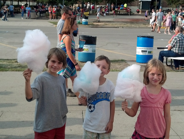 Andrew, Elliot, and Mari, with their Cotton Candy