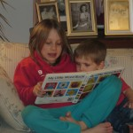 Mari reading with Henry
