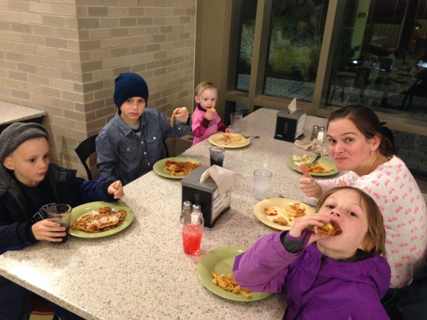Dinner at the Caf