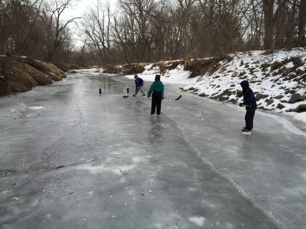 Playing Hockey on the Creek