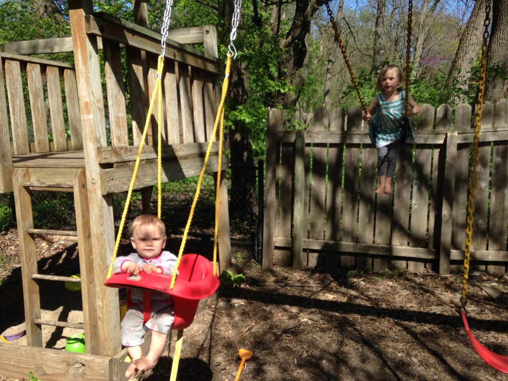 These girls love to swing!