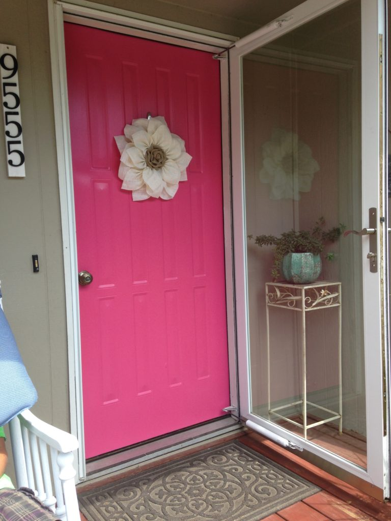 Updated front door - what a color!