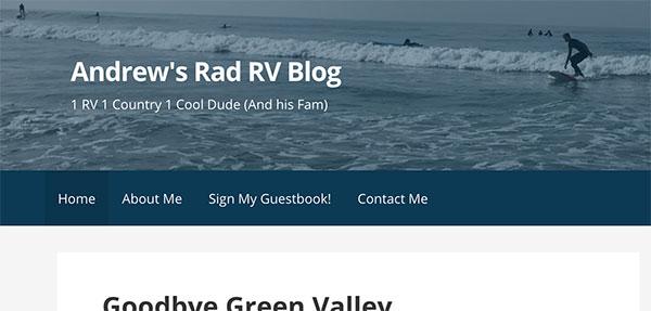 Screenshot of Andrew's Blog